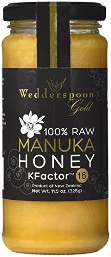 Wedderspoon Gold Monofloral Raw Manuka Honey KFactor 16 -11.5 oz