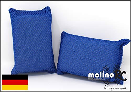 molinoRC | 2X Autoschwamm | Schwamm für KFZ | Klare Scheibe | Mikrofaser | klare Sicht | für nass und trocken | Sicherheitsschwamm | Deutsche Marke