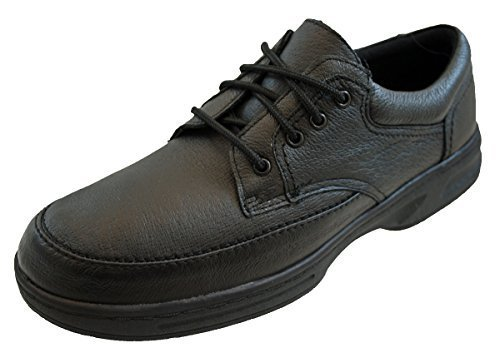 Dr Keller - Mocasines de cuero para hombre, color negro, talla 41.5