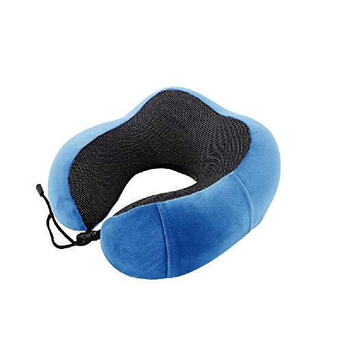 plkm Almohada De Cuello De Tipo U Creativa De Algodón De Memoria, Almohada para Dormir Almohada De Viaje 29 * 25 * 14cm/Azul Zafiro