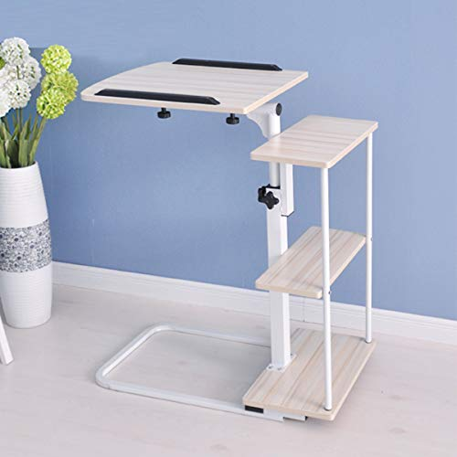 Hospital Bed Table,Portable Overbed/Chair Table,Laptop Desk for Work Study Height & Angle Tilting,Reading Dining Rolling Mobile Computer Desk