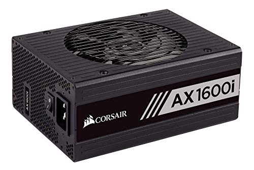 Corsair AXi Series, AX1600i, 1600 Watt, 80+ Titanium Certified, Fully Modular - Digital Power Supply (CP-9020087-NA)