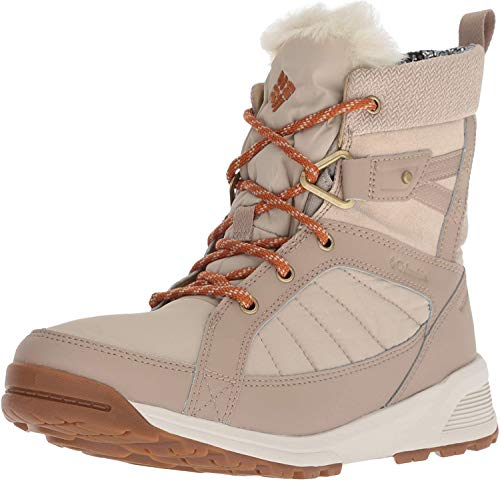 COLUMBIA Damen Wasserdichte Wanderstiefel, MEADOWS SHORTY OMNI-HEAT 3D, Beige (Ancient Fossil, Bright Copper), 37 1/2