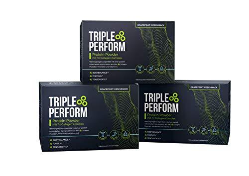 Triple Perform Protein Powder - 3-MONATSRATION, Nahrungsergänzungsmittel zur Unterstützung von Muskelaufbau, Regeneration, Fettabbau und Vorbeugung von Verletzungen