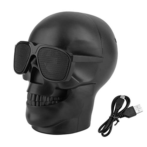 COMOTS Skull Bluetooth Speaker Wireless Compact Skull Head Universal Loudspeaker Audio Receiver Stereo Music CD Player