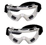 YSYANG - Gafas de protección de Seguridad industriales, Resistentes al Viento, a Prueba de Polvo, a la Arena, protección para conducción al Aire Libre, Lentes Transparentes, Transparente