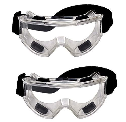 YSYANG Gafas de protección de seguridad industriales resistentes al viento, a prueba de polvo, para evitar la arena, para montar al aire libre, lentes transparentes (2 unidades)