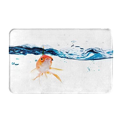 AIKIBELL Alfombrilla de baño,Goldfish Nadando bajo la Superficie del Agua Clara pece,alfombras Antideslizantes para decoración del hogar,Felpudo Suave y Duradero