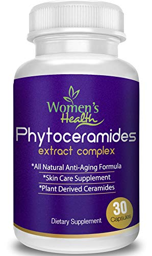 Phytoceramides Capsules with Our Anti Aging Program for Free - Best Anti Aging Supplement from Rice with Vitamin A,C,D and E for Hair, Skin, Nails