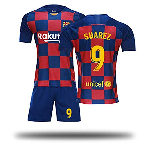 Fútbol Club Barcelona Auswärtsspiel Suarez # 9 Kinder Jugend Fußball Trikot und Shorts, Kostüm Sportswear Kleidung für Männer Fußball Trikot Jugend Frauen Jungen Kinder Kidswear-1-XXL