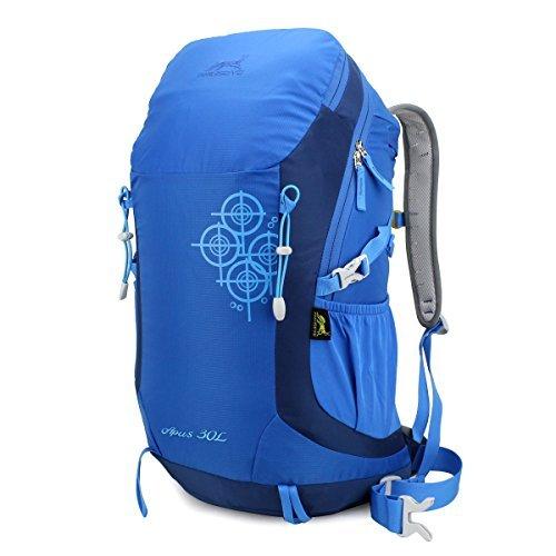 Eshow unisex Borsain nylon leggero resistente all'acqua escursionismo Daypack zaino da viaggio zaino di campeggio di sport esterni 30L Colore Blu ¡