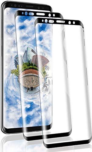 RSSYTZ [2 Pack Protector de Pantalla para Samsung S9 Plus, [9H Dureza] [Resistente a Arañazos] [Admite la función de Huella Digital] Vidrio Templado Screen Protector para Samsung S9 Plus