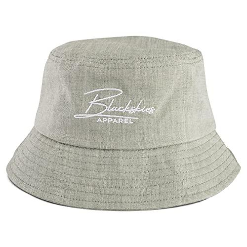 Blackskies EOS Bucket Hat | Hombre Mujer Unisex Sombrero de Sol Sombrero de pescador Sombrero Jeans Denim Eos Green Talla única
