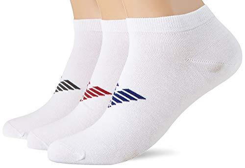 Emporio Armani Underwear Herren IN Shoe Inside Multipack Socken, Weiß (Bianco/Bianco/Bianco 60210), 44/45 (Herstellergröße: L)