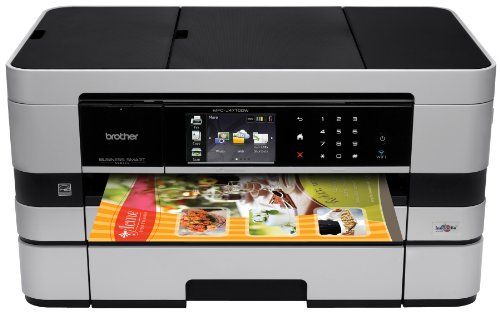 Brother Printer MFCJ4710DW Wireless Color Inkjet All-in-One Printer with Scanner, Copier and Fax, Amazon Dash Replenishment Ready