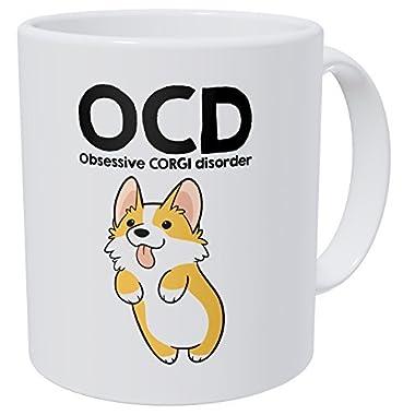 Wampumtuk OCD Obsessive Corgi Disorder 11 Ounces Funny Coffee Mug