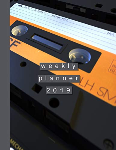 Weekly Planner 2019: Musicians diary with Music Manuscript Paper / Staff Paper for recording music and organisation