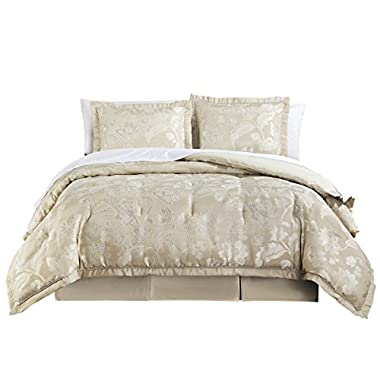 Marquis By Waterford Emilia Comforter Set, Queen, Cream