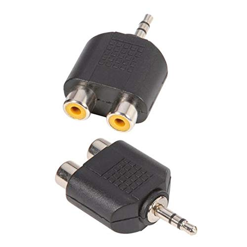 Adam Hall Connectors 7550–Adaptador en Y 2X Mono RCA Female a 3,5mm Stereo Jack Male
