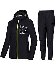 HOTSUIT Bastu kostym kvinnor träningsjacka byxor anti-ripp svettdräkter - tyguppgradering