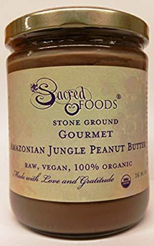 Sacred Foods Stone Ground Gourmet Amazonian Jungle Peanut Butter Raw Vegan Organic 16 Fl Oz