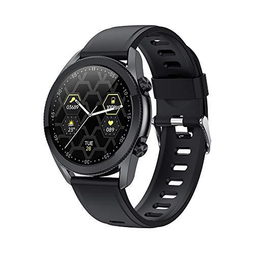 TYOP Reloj inteligente, pantalla de color IPs de alta definición de 1.3 pulgadas de alta definición, Pulsera de definición de tiempo Bluetooth deportes, RECORDATORIO DE INFORMACIÓN, Reloj de reserva l