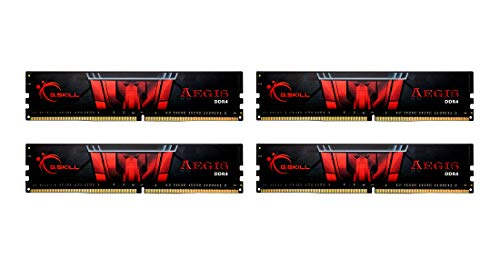 G.Skill Aegis F4 3200C16Q 32GIS Module de mémoire 32 Go 4 x 8 Go DDR4 3200 MHz