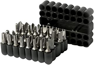 ARES 70009-33-Piece Security Bit Set with Magnetic Extension Bit Holder - Includes Tamper Resistant, SAE Hex, Metric Hex a...