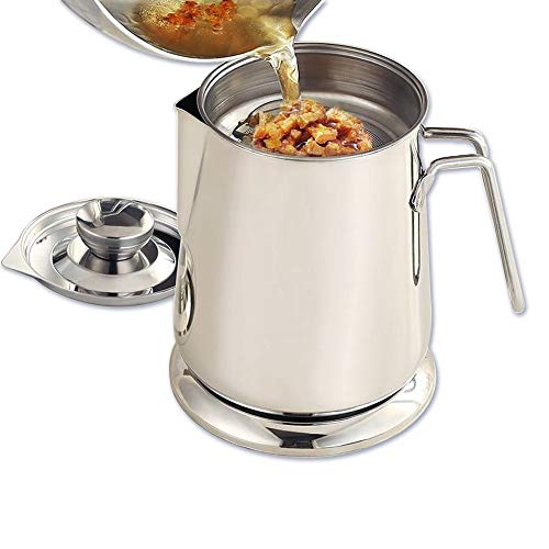 Oil Strainer Pot Bacon Grease Can
