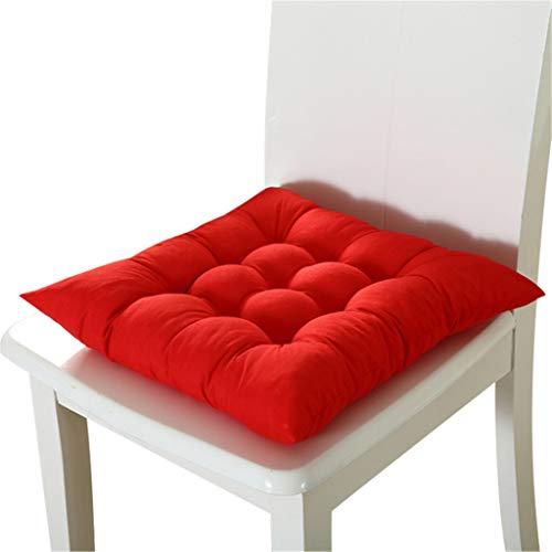 Zitkussen Ideaal voor eetkamerstoel tuin Keuken Office School, Car Seat Mat Pet Bed, Size 37X3 7cm / 14.6X14.6 Inches (Red),Red