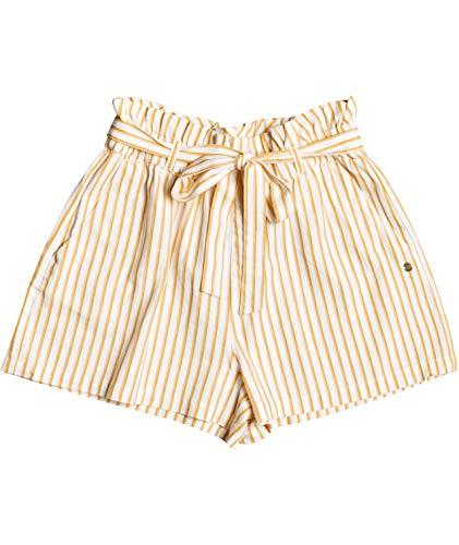 Roxy Be My Darling Paper Bag Short Pantalones Cortos, Blancanieves V Indie Stripes, XL para Mujer