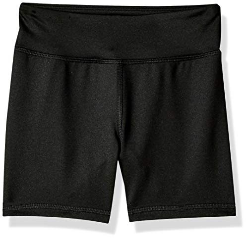 Amazon Essentials Mädchen Stretch Active Short, Black, US S (EU 116 CM)