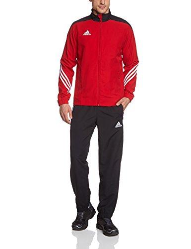 adidas Herren Fußball Trainingsanzug Sere14,Top:Unired/Black/Wht Bottom:Black/White,S