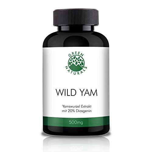 Yams (180 Kapseln á 500mg) - deutsche Herstellung – Vorrat für 6 Monate – 100% Vegan & Ohne Zusätze