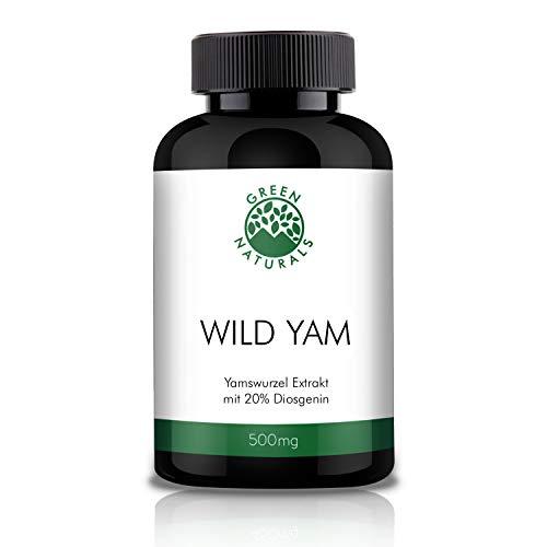 GREEN NATURALS Premium Yams - 180 hochdosierte Kapseln á 500mg aus deutscher Herstellung – Vorrat für 6 Monate – 100% Vegan & Ohne Zusätze