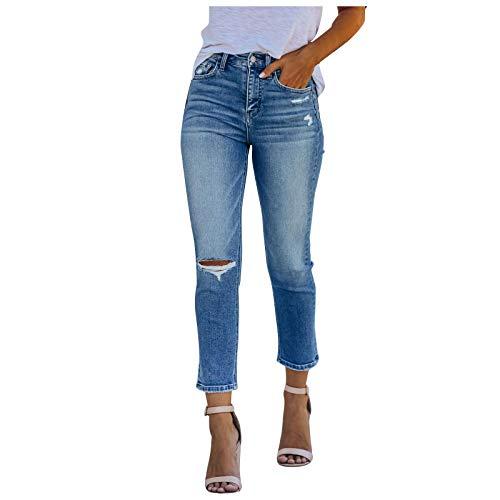 Y2K - Pantalones vaqueros para mujer, estilo holgado, estilo y2K, estilo Harajuku E-Girl, estilo urbano, ajustados, estilo vintage