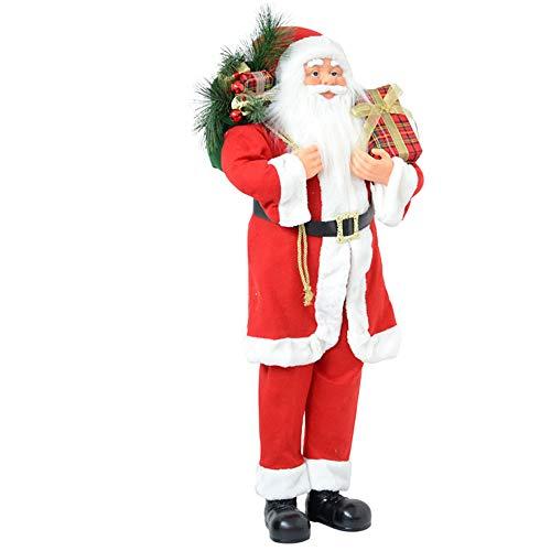 Pupazzo Babbo Natale Decorazioni Natalizie per casa Negozio Sacco Regali 110 cm