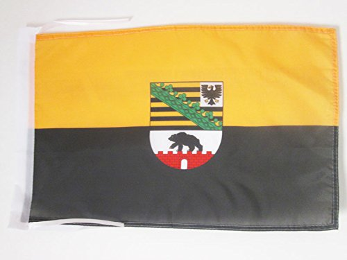AZ FLAG Flagge Sachsen-Anhalt 45x30cm mit Kordel - Sachsen-Anhalt Fahne 30 x 45 cm - flaggen Top Qualität