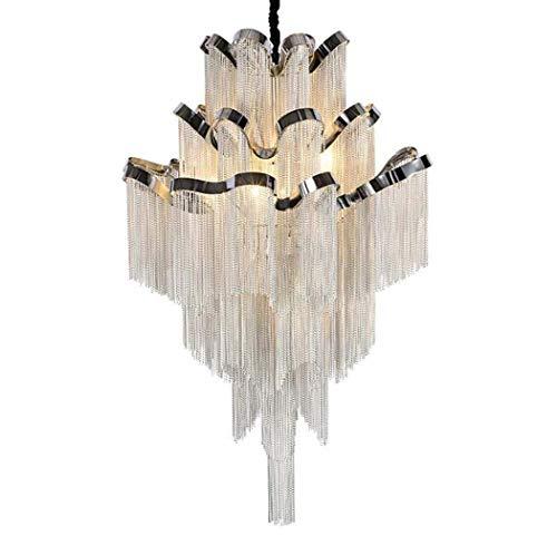 miwaimao Lámpara de araña de cristal, moderna, lámpara de techo LED, lámpara de cristal, lámpara colgante Rain Drop, iluminación para hoteles, bodas, cafeterías