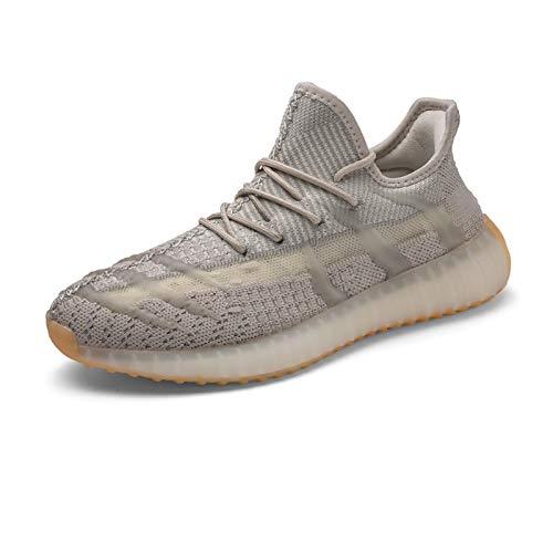JUST ALONE Deporte Hombre Zapatos para Caminar Informal Running Entrenamiento (Color : Gris, Size : EU 38)