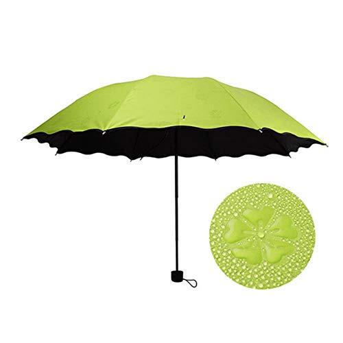 Erfhj Ms. Paraplu Winddichter Sonnenschutz Mode Magische Bloem Dome UV-Schutz Wasserdichter Sonnenregen Taschenschirm