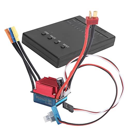 Tenpac ESC sin escobillas, Juego de Tarjetas de Programa ESC Juego confiable de ESC para automóvil teledirigido