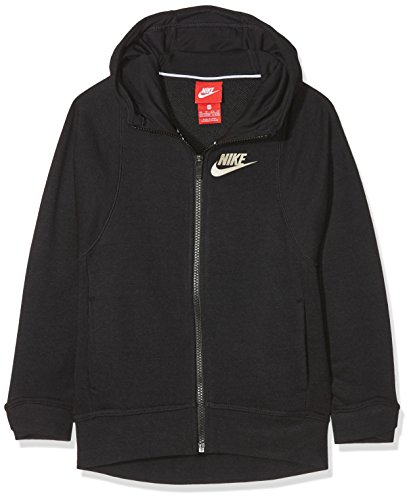 Nike Mädchen Modern Kapuzenpullover Hoodie, Black, S