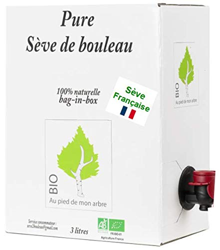 SEVE DE BOULEAU Bio de qualité Française bag-in-box 3L (soit 6,65 € le 1/2 L)