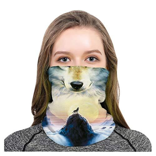 HEETEY - Pañuelo multifunción para hombres y mujeres Magic Turban, sin costuras, pañuelo para el cuello, crema solar, equitación, resistente al viento, máscara para la boca