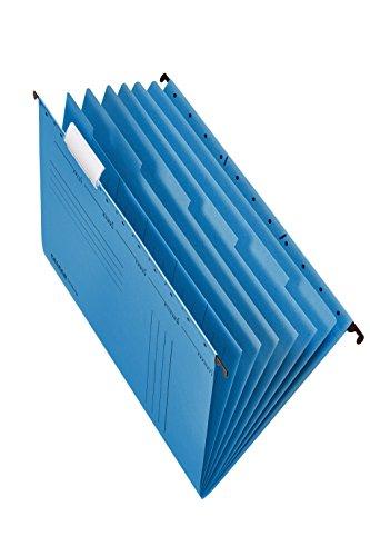 Original Falken Projektmappe und Personalmappe UniReg. Made in Germany. Aus Recycling-Karton für DIN A4 seitlich offen blau Blauer Engel Personalakte Personalhefter für die lose Blatt-Ablage