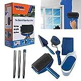 Paint Runner Pro, rullo con serbatoio, strumento per angoli, pennello;set per dipingere le pareti di casa e in giardino