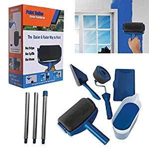 Funmo - Rodillo para pintar Paint Runner Pro con depósito, pincel, pincel para esquinas Juego de pintura para paredes en casa y en el jardín