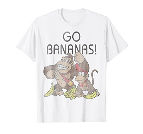 Nintendo Donkey Kong Go Bananas Vintage Graphic T-Shirt