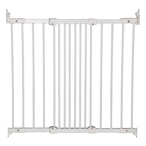 BabyDan-Barrera de seguridad extensible, de metal, color blanco/plateado blanco Metal Blanc/Argent